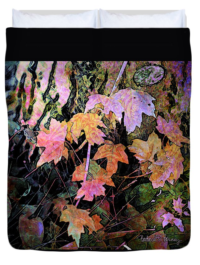 Leaves Duvet Cover featuring the digital art Fairy Garden by Barbara Berney