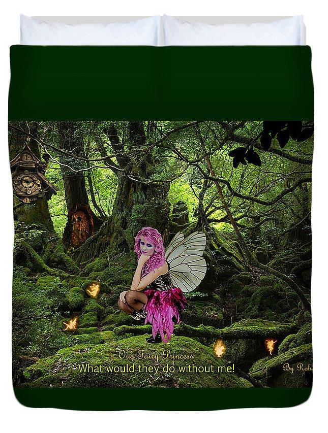 Faiyr Duvet Cover featuring the digital art Fairy Princess by Robert Marquiss