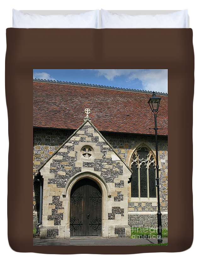 Church Duvet Cover featuring the photograph Faithful by Ann Horn