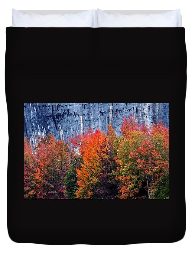 Buffalo River Duvet Cover featuring the photograph Fall At Steele Creek by Marty Koch