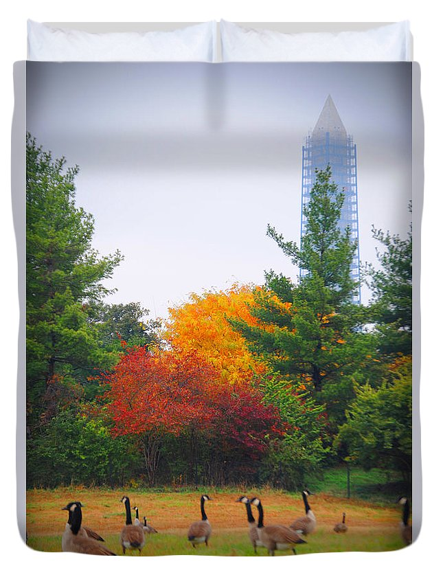 Fall Duvet Cover featuring the photograph Fall Geese Of Washington by Jost Houk