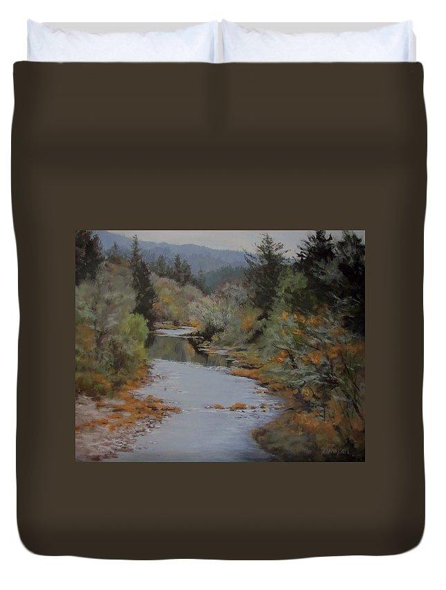 Fall Duvet Cover featuring the painting Fall Harmonies by Karen Ilari