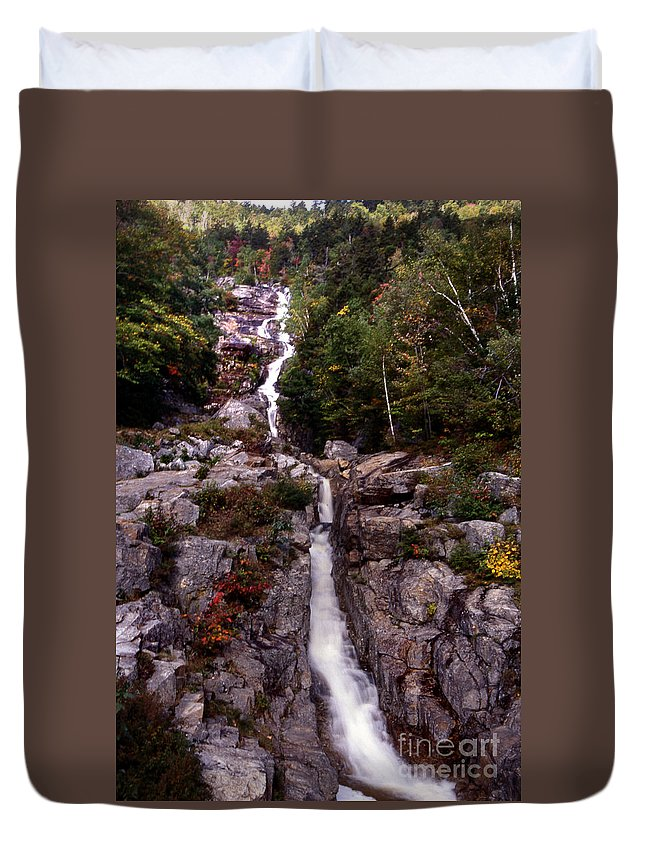 Scenic Tours Duvet Cover featuring the photograph Fall Rush by Skip Willits
