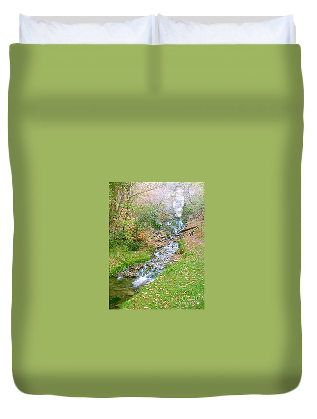 Springs Duvet Cover featuring the photograph Fall Springs by Minding My Visions by Adri and Ray