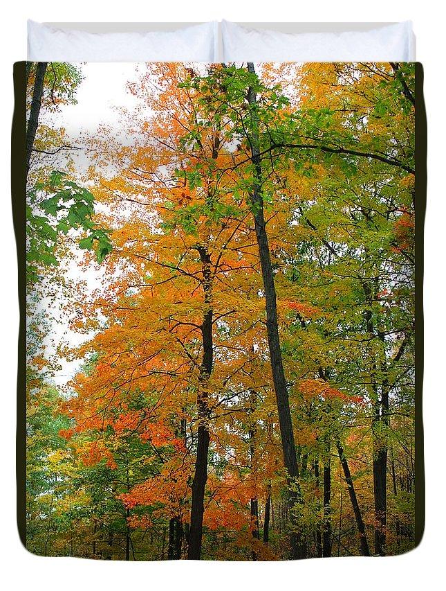 Fall Duvet Cover featuring the photograph Fall by Stephanie Kripa