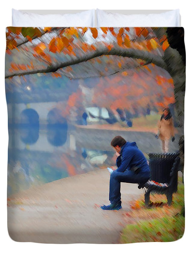 Fall Duvet Cover featuring the photograph Fall Thoughts by Jost Houk