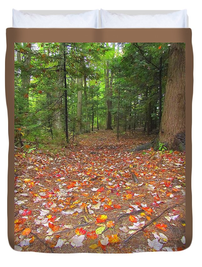 Leaves Duvet Cover featuring the photograph Fallen Leaves by Elizabeth Dow