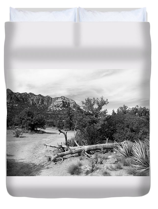 Arizona Duvet Cover featuring the photograph Fallen Tree by Two Bridges North