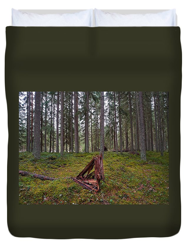 Lehto Duvet Cover featuring the photograph Fallen Tree by Jouko Lehto