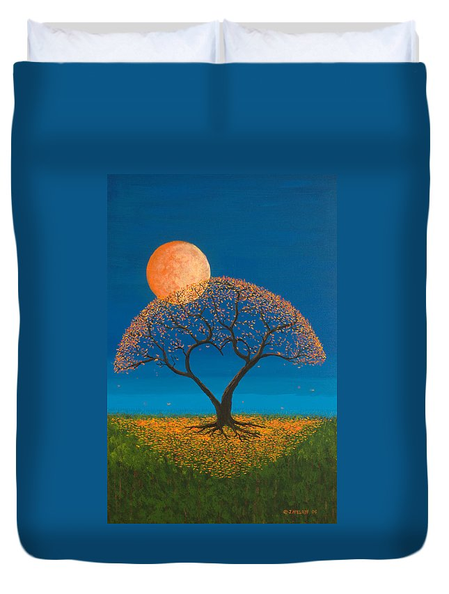 Love Duvet Cover featuring the painting Falling For You by Jerry McElroy