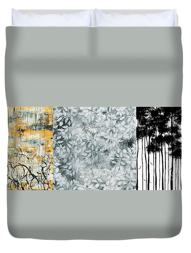 Painting Duvet Cover featuring the painting Falls Design Wide by Megan Duncanson