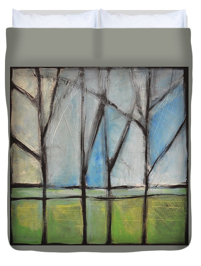 Trees Duvet Cover featuring the painting Family by Tim Nyberg