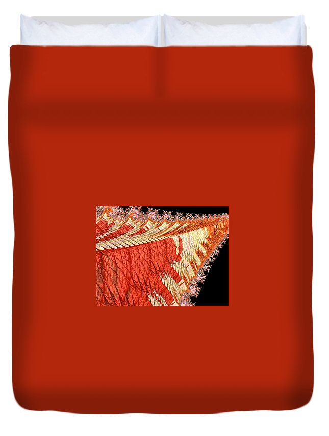 Abstract Duvet Cover featuring the photograph Fantasia Orange by Barbara Zahno