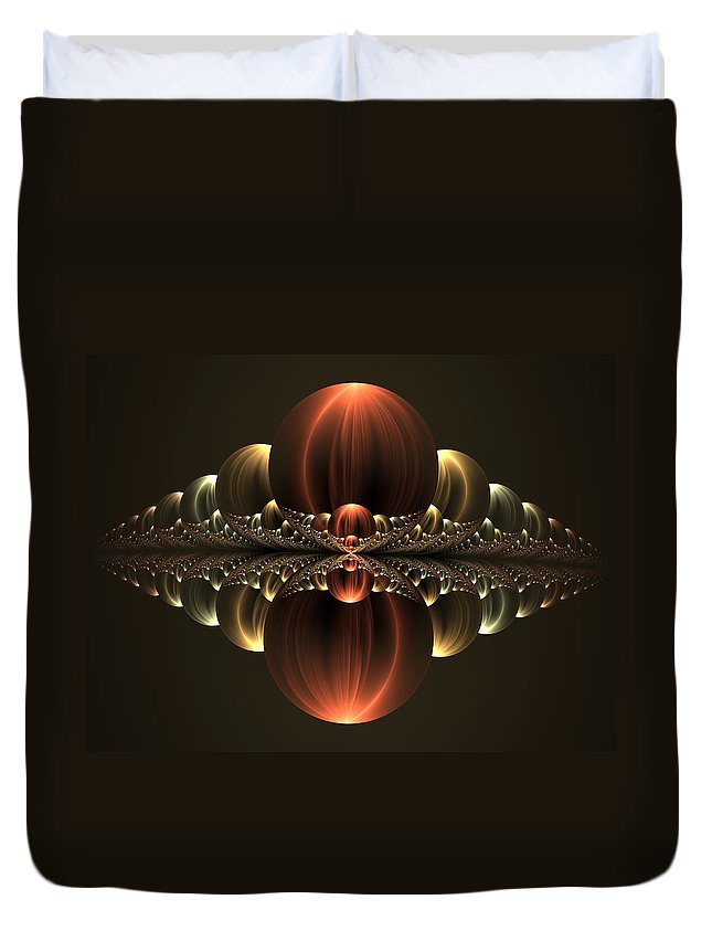 Abstract Duvet Cover featuring the digital art Fantastic Skyline by Gabiw Art