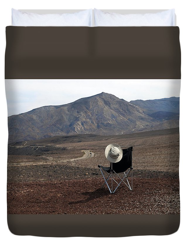 Highway Duvet Cover featuring the photograph Far As My Eyes Can See by Joe Schofield