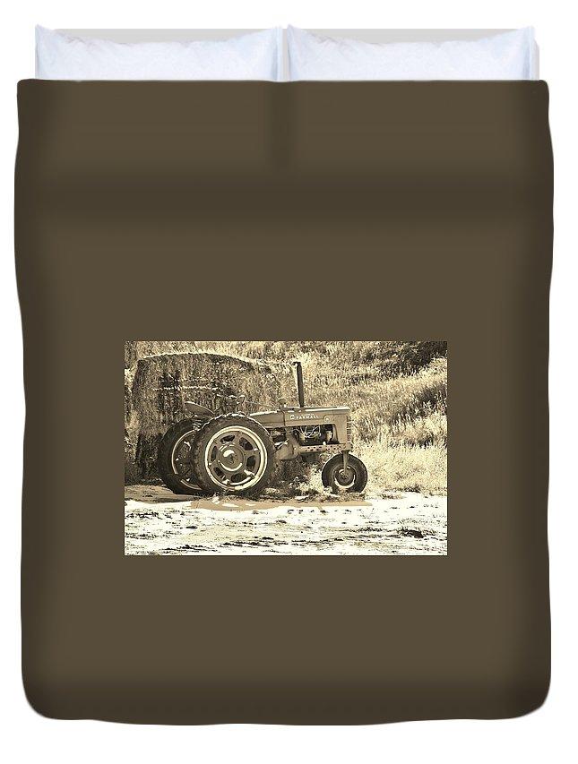 Farm Duvet Cover featuring the photograph Farmers Friend by Karen Jones