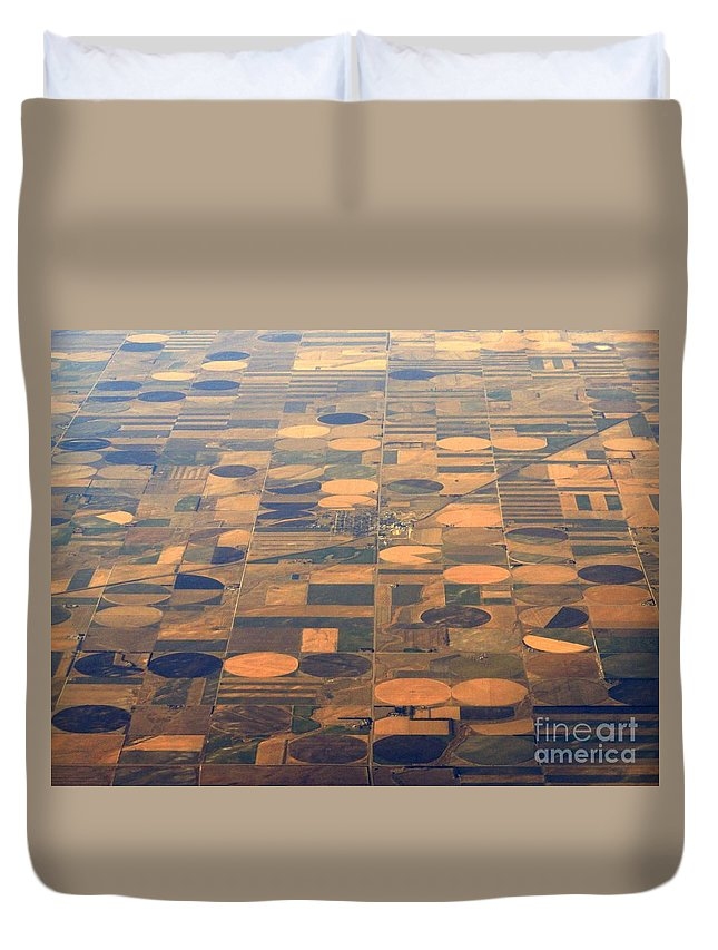 Crop Circles Duvet Cover featuring the photograph Farming In The Sky 2 by Anthony Wilkening