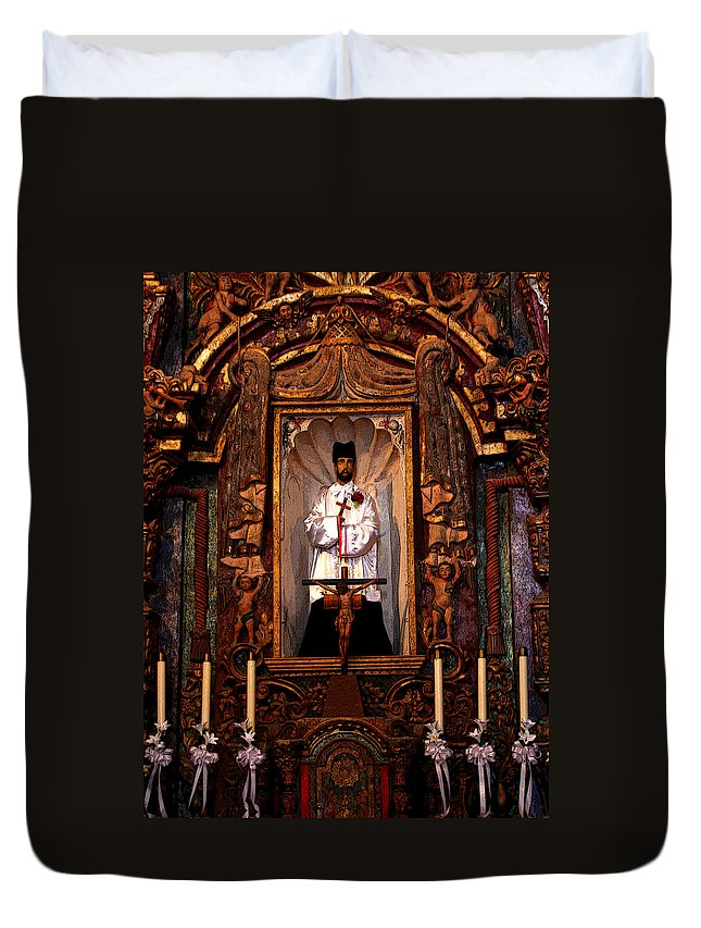 Religious Duvet Cover featuring the photograph Father Kino by Joe Kozlowski