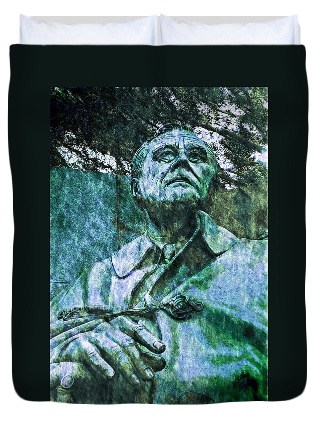 District Of Columbia Duvet Cover featuring the digital art Fdr - 3164 Watercolor 2 Hp by David Lange