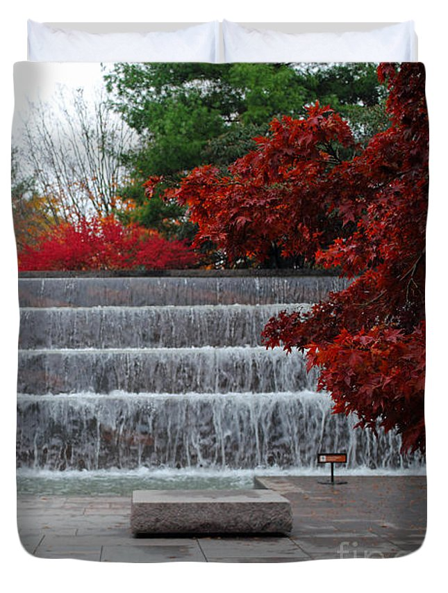 Fall Duvet Cover featuring the photograph Fdr Falls by Jost Houk
