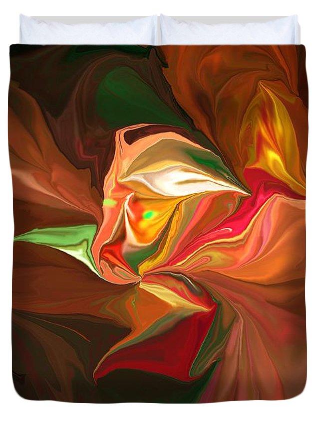 Fine Art Duvet Cover featuring the digital art Fear by David Lane