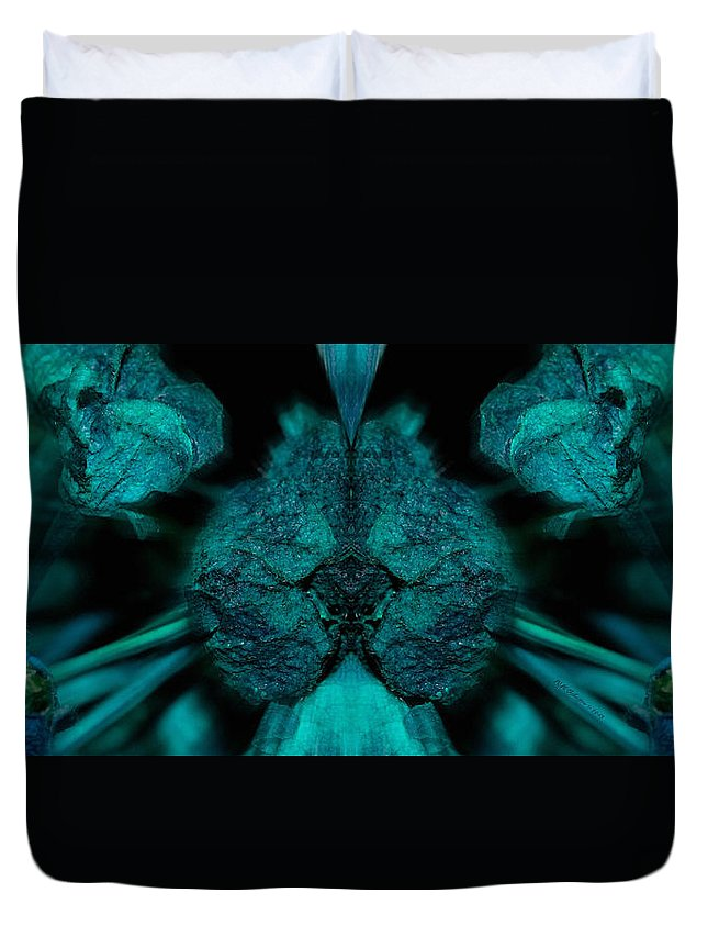 Fear Duvet Cover featuring the photograph Fear Of Foliage by WB Johnston