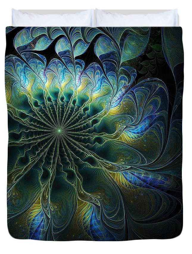 Digital Art Duvet Cover featuring the digital art Feathered by Amanda Moore
