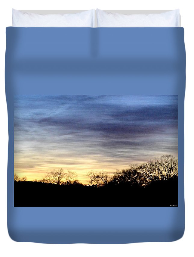 February 1 Dawn 2013 Duvet Cover featuring the photograph February 1 Dawn 2013 by Maria Urso