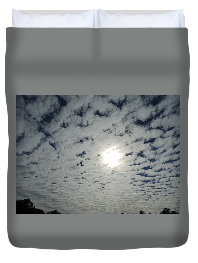 February Sky Duvet Cover featuring the photograph February Sky by Kim Pate