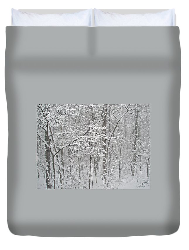 Snow Duvet Cover featuring the photograph February Snow by Mother Nature