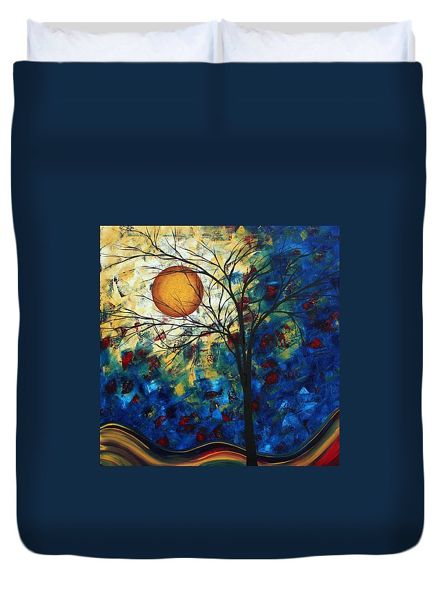 Decorative Duvet Cover featuring the painting Feel The Sensation By Madart by Megan Duncanson