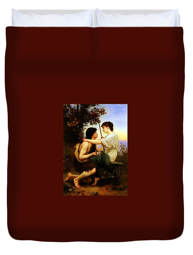 Bellanger Camille Duvet Cover featuring the painting Felix Idylle by MotionAge Designs