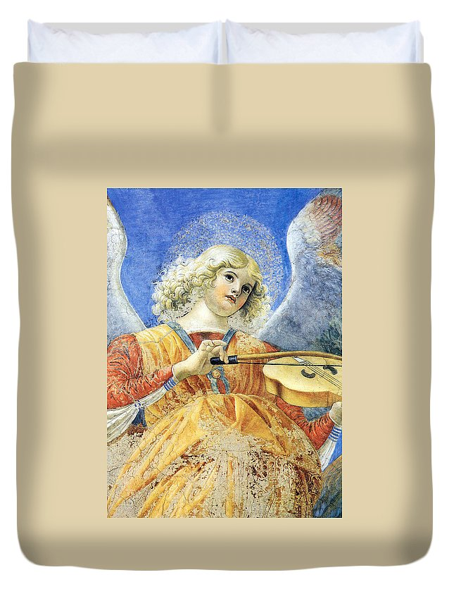 Angel Duvet Cover featuring the photograph Female Angel by Munir Alawi