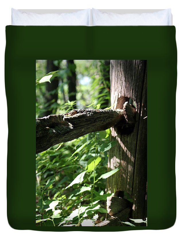 Outdoors Duvet Cover featuring the photograph Fence by Allan Lovell