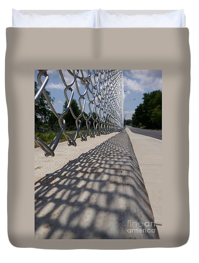 Jane Ford Duvet Cover featuring the photograph Fenced In by Jane Ford