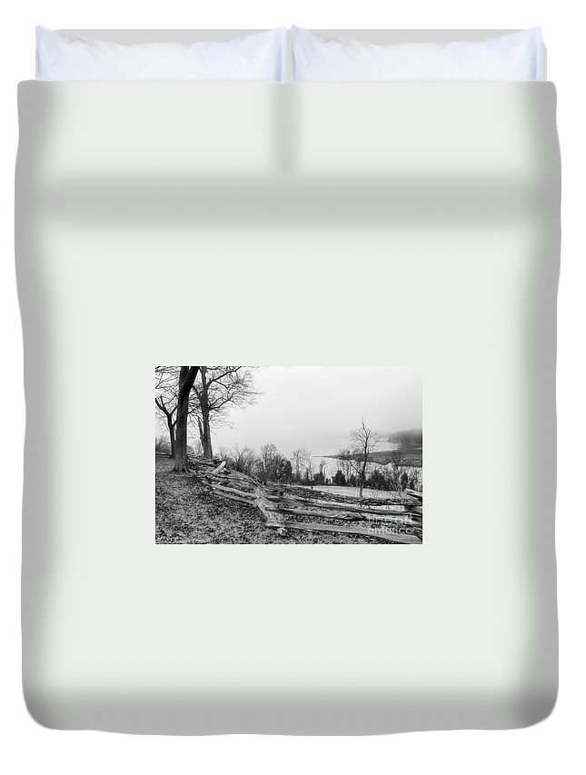 Photography Duvet Cover featuring the photograph Fenced In by Susan Smith