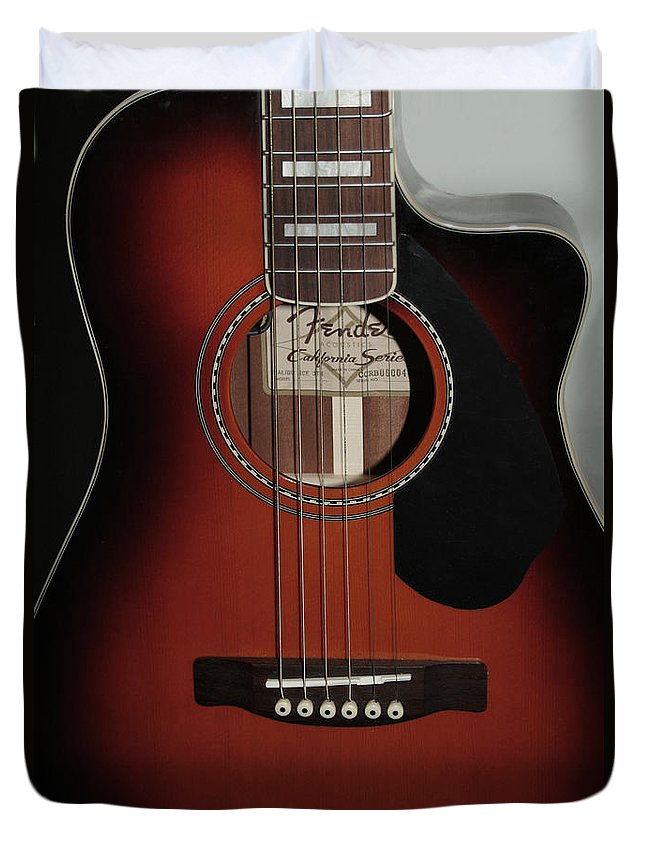 Fender Duvet Cover featuring the photograph Fender by Linda Sannuti