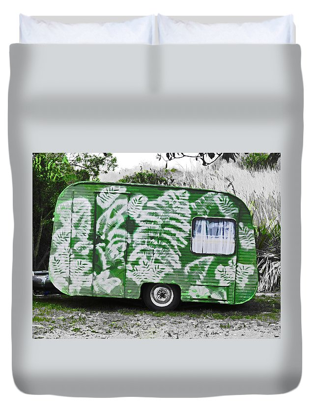 Fern Gully Duvet Cover featuring the photograph Fern Gully by Steve Taylor