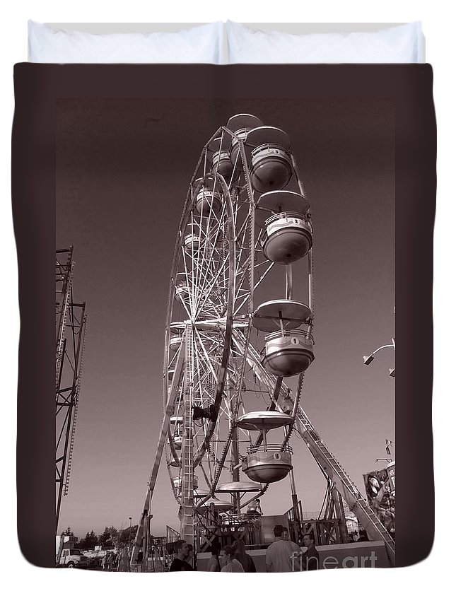 Carnival Duvet Cover featuring the photograph Ferris Wheel 1 by September Stone