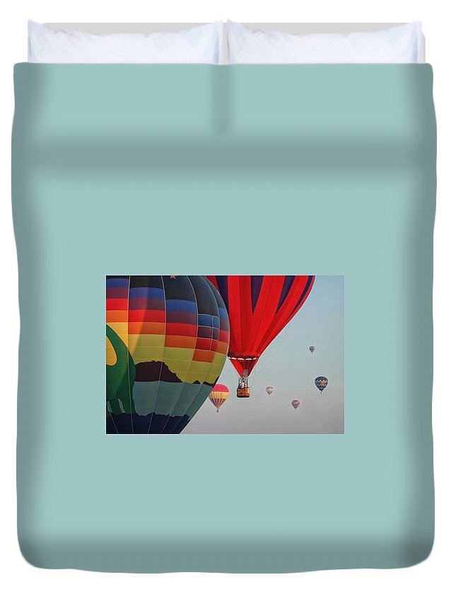 Balloon Duvet Cover featuring the photograph Festival Colors by Joe Ownbey
