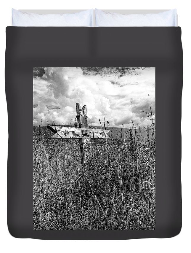 Graveyard Duvet Cover featuring the photograph Field Of Faith by The Artist Project