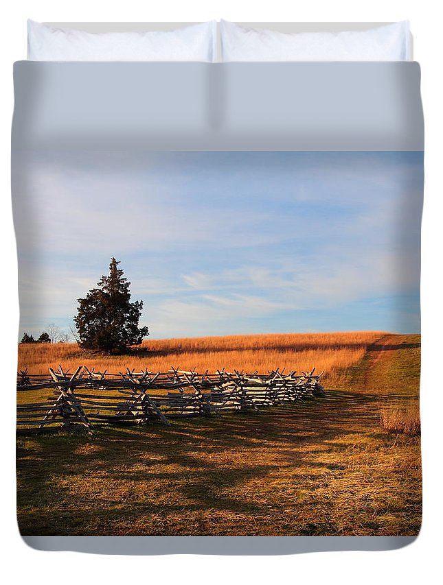 Duvet Cover featuring the photograph Field Of Shadows by Scott Fracasso