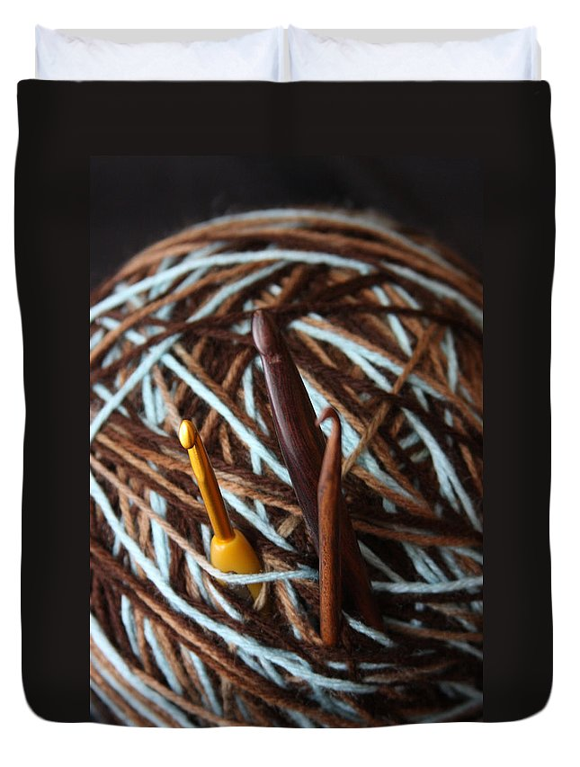 Crochet Duvet Cover featuring the photograph Fierce Hook by Nicole Colella