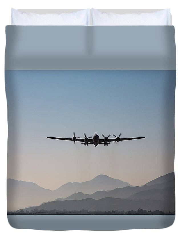 Fifi Duvet Cover featuring the photograph Fifi Rising by John Daly