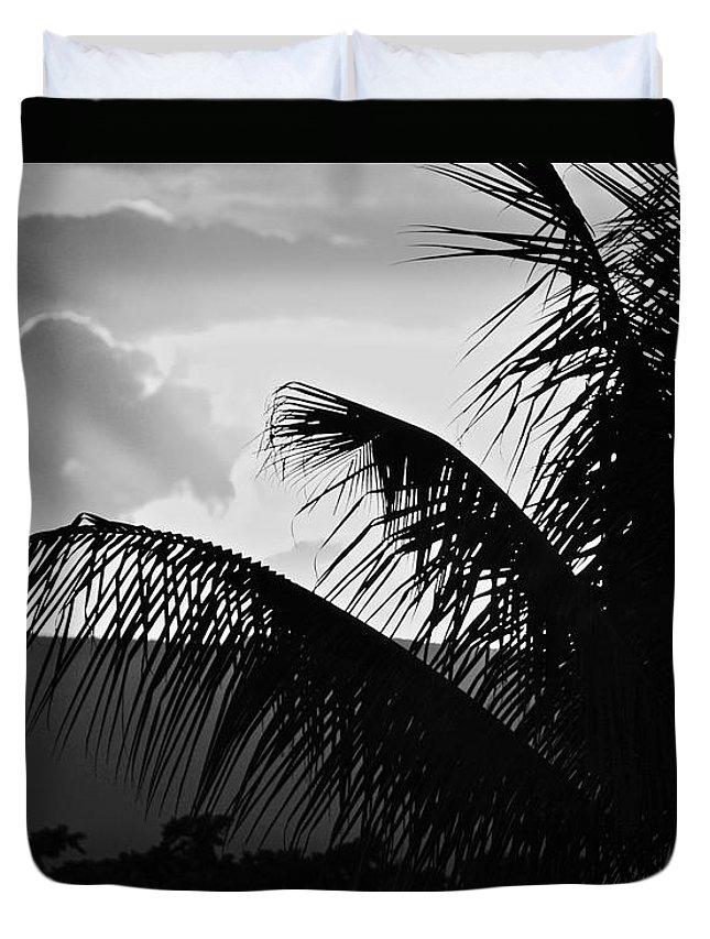 Black And White Duvet Cover featuring the photograph Fifty by Donna Shahan