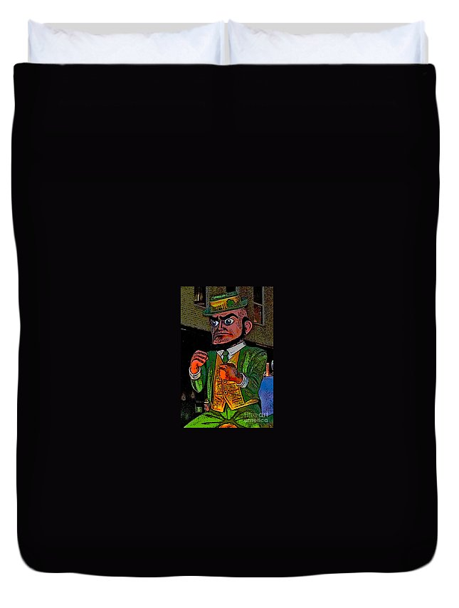 Computer Graphics Duvet Cover featuring the photograph Fighting Irish by Marian Bell