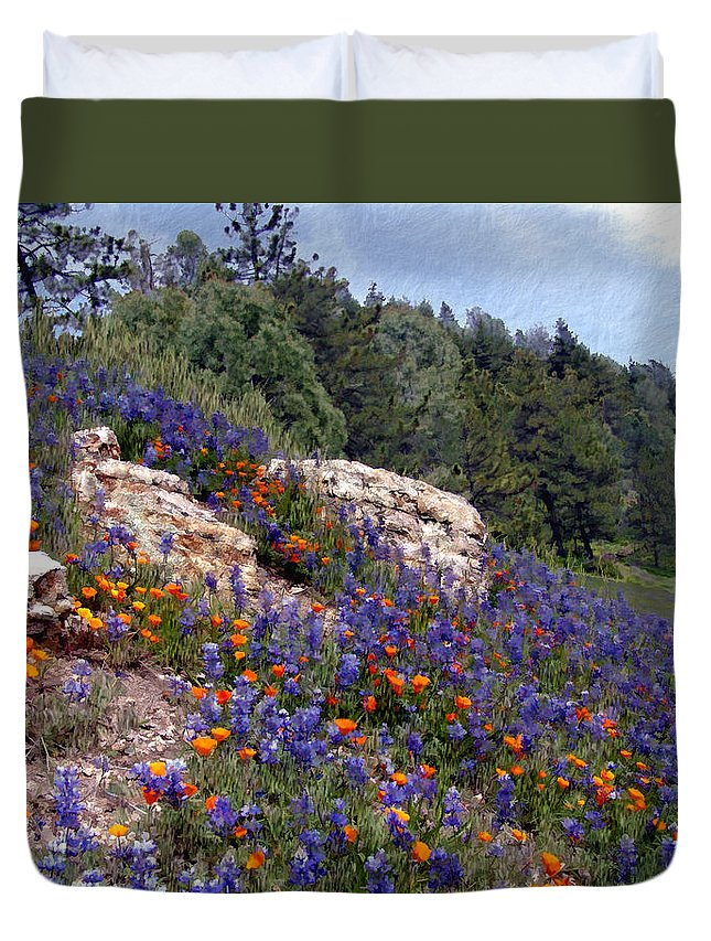 Flowers Duvet Cover featuring the photograph Figueroa Mountain Splendor by Kurt Van Wagner