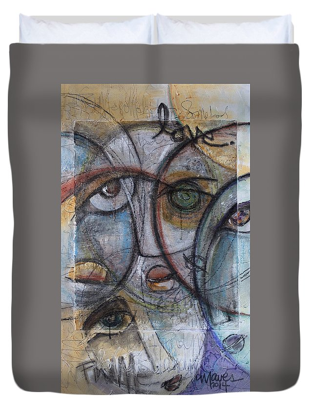 Queen Duvet Cover featuring the painting Find Me Somebody To Love by Laurie Maves ART