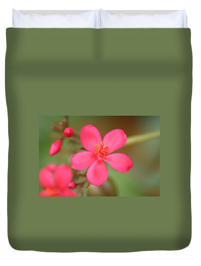 Flower Duvet Cover featuring the photograph Fine Tune by Sheryl Chapman Photography