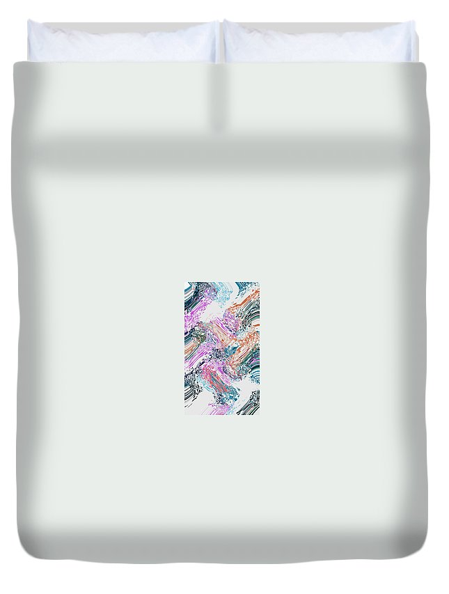 women's Fashion girl's Fashion fashion Design Fashion Design graphic Design Abstract Duvet Cover featuring the photograph Finger Paint by Bill Owen